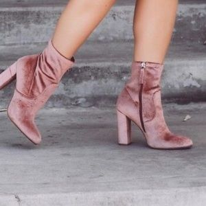 Steve Madden Echo blush heeled ankle boot